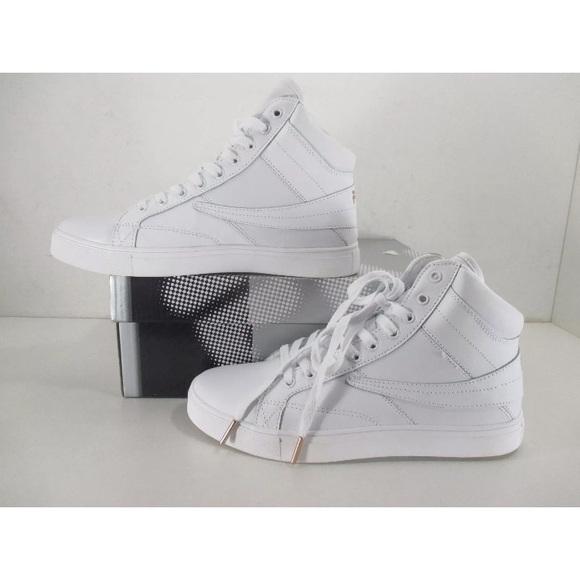 Fila Smokescreen White High top sneakers NWT